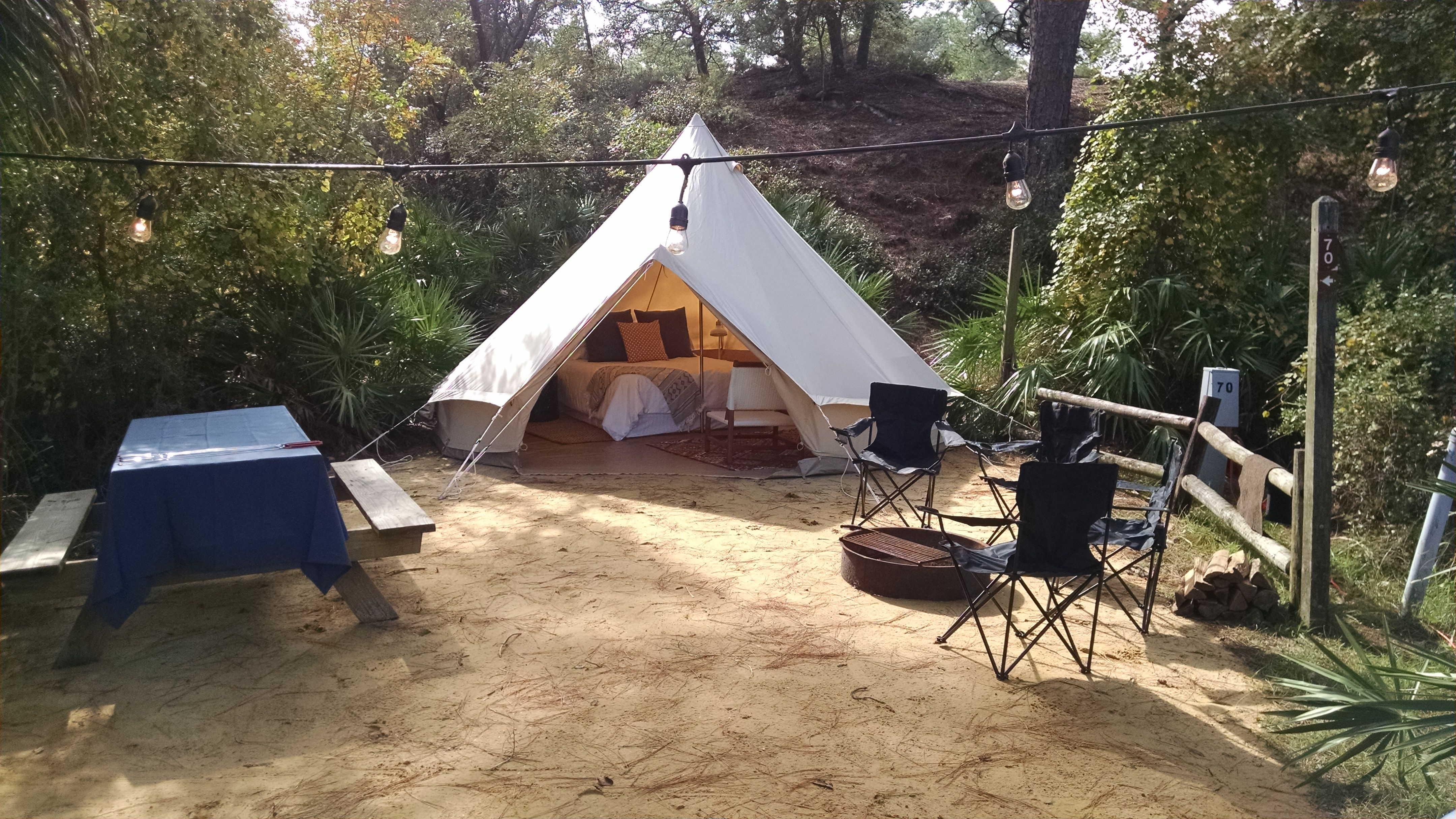 Glamping near Panama City Beach | Grayton beach state park, Luxury camping,  Glamping spots