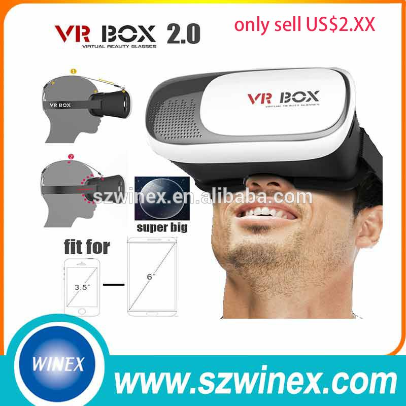 2016 Hot Oculos Vr Vr Box2 0 With 3d Glasses Virtual Reality And Abs Plastic 3d Glasses Vr Box 3d Glasses Abs