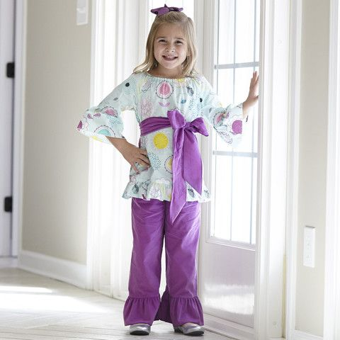 Girls Mint Floral Corduroy Pant Set – Lolly Wolly Doodle