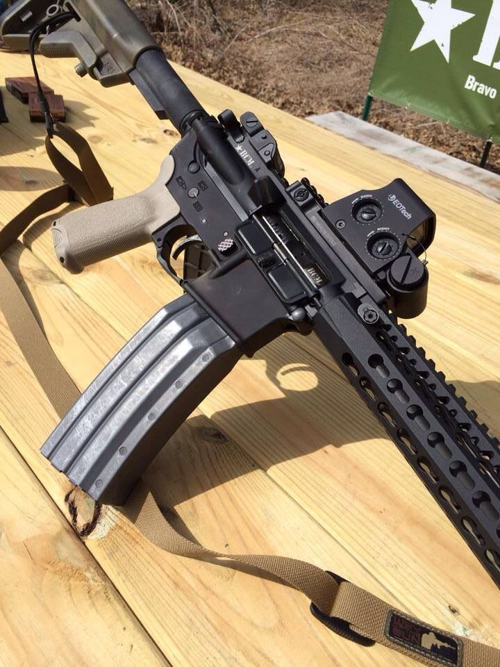 BCM AR-15 w/ Surefire 60rd MagLoading that magazine is a pain! Get