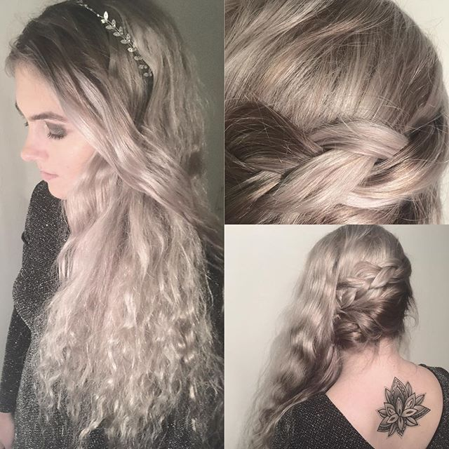 •New year's eve• #style #shirlbraids #newyear #newyearseve #party #fun #glittereyes #hairstyle #haircolor #ashblonde #braidideas #inspiration #cute #glamour #braidstyles #longhair#hairstylist #styling #girl