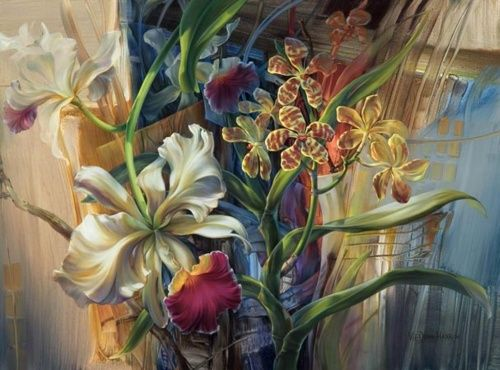 Художница Vie Dunn-Harr (54 работ)   Цветочные картины ...