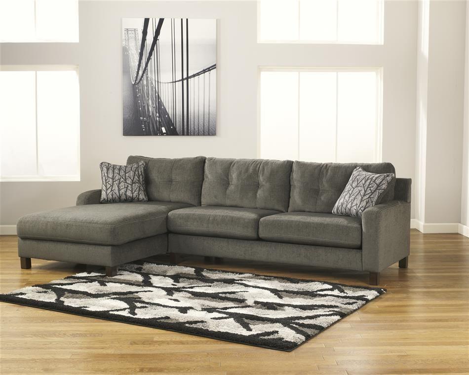 Tufted Sectional Sofa Gray Metro Modern Plush Tufted