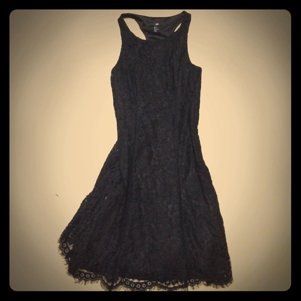 H&m yellow lace dress  Black Lace Dress  Black laces and Products