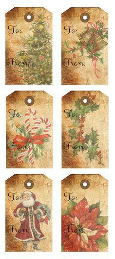 Rustic Christmas Gift Tags Free Printables