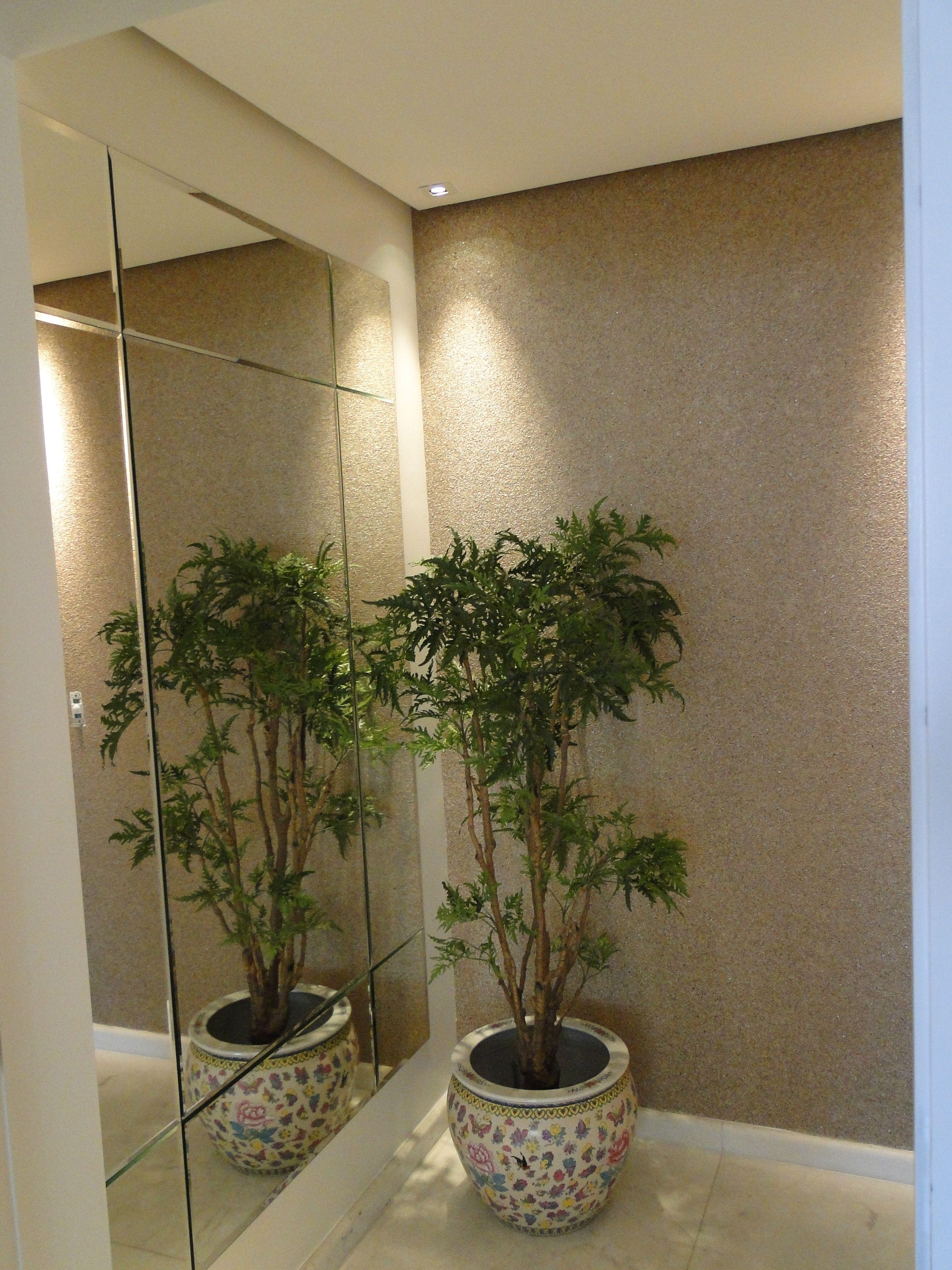 Espelhos parede hall de entrada pesquisa google hall - Papel pared entrada ...