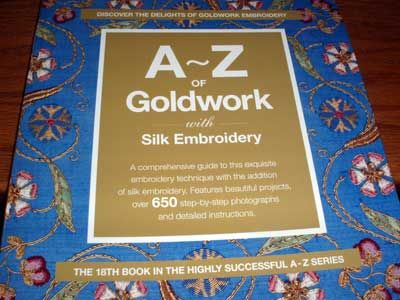A-Z of Goldwork is an instructional book that covers pretty much every goldwork embroidery technique, using step by step photos, diagrams, and text to teach goldwork to the beginner and beyond. Click through for a thorough book review!