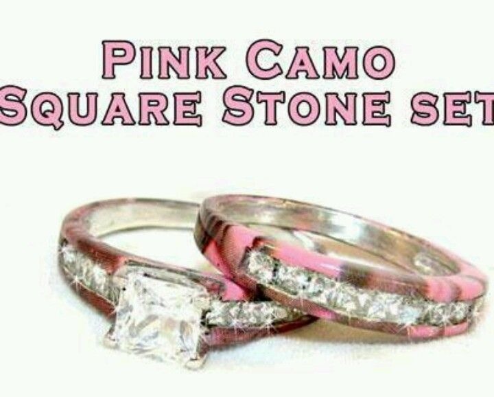 Pink Camo Wedding Ring Set Iu0027d Be The Dork To Get It!