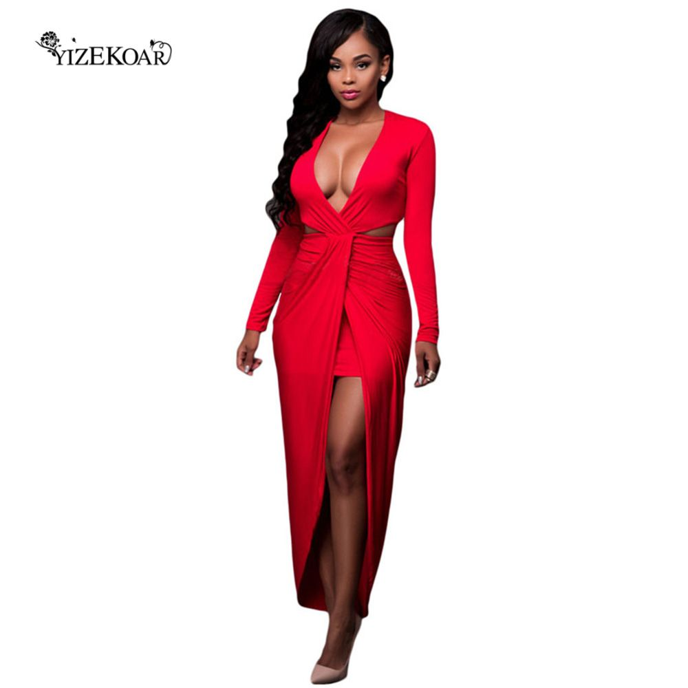 Click to buy ucuc autumn women sexy bodycon dresses new arrival