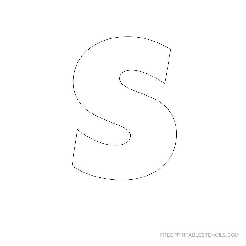 Big Letter Printable Stencils A To Z