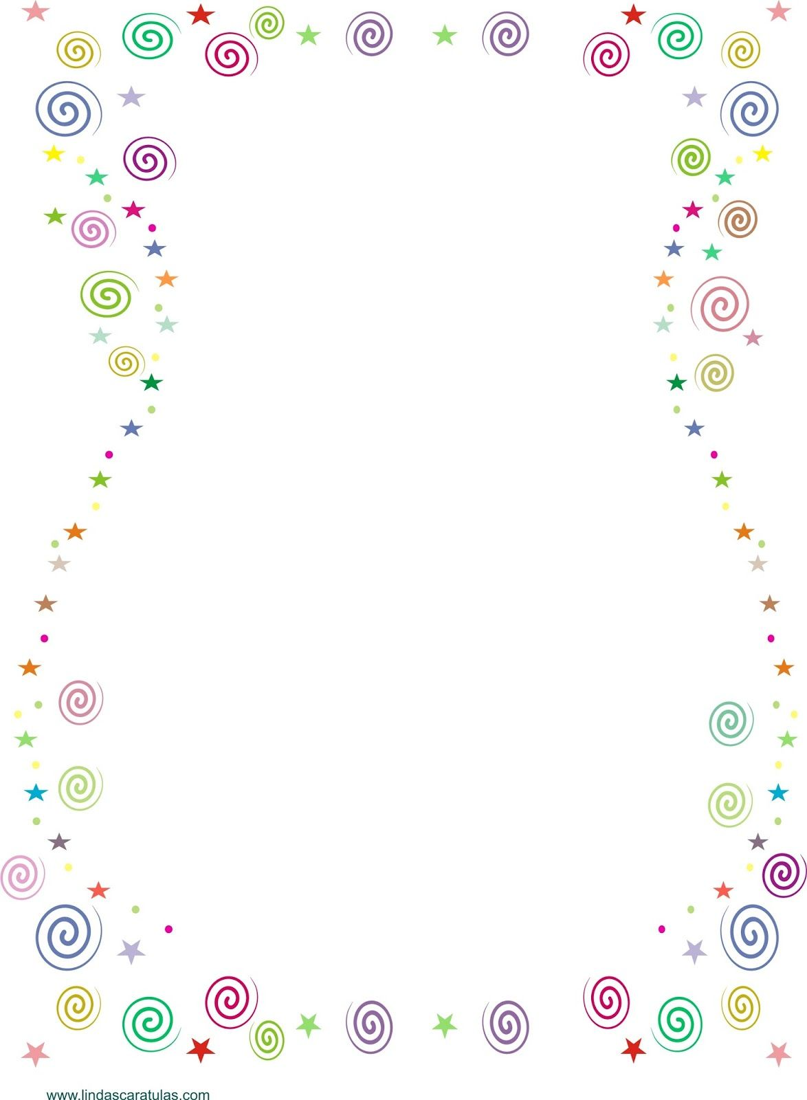 BORDERS FOR KID: Caratula de Colores | mis carátulas | Pinterest ...