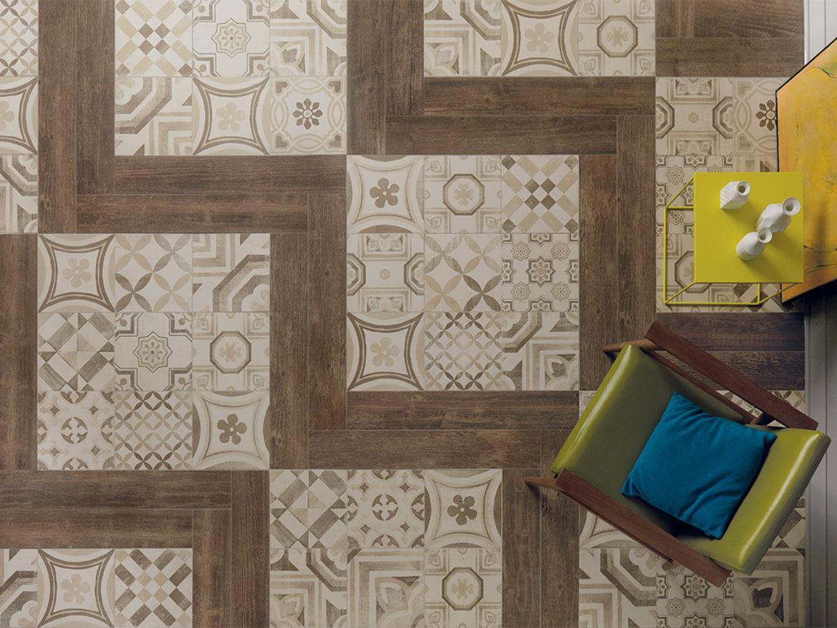 Amb keuken woonkamer patchwork stijl stijl effect imitatie