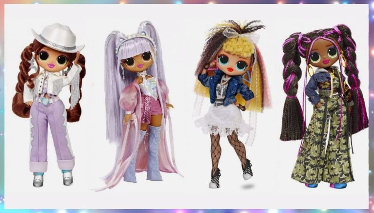 Lol Remix Omg Dolls Kitty Queen 80 S Bb Honey Bun And Lome With 25 Surprises Rockstar Costume Flower Girl Dresses Mermaid Fashion Dolls
