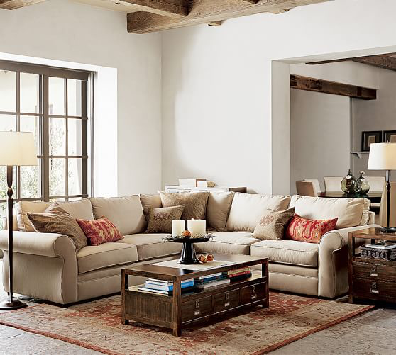 Best Pearce Upholstered 2 Piece L Shaped Sectional Sectional 400 x 300