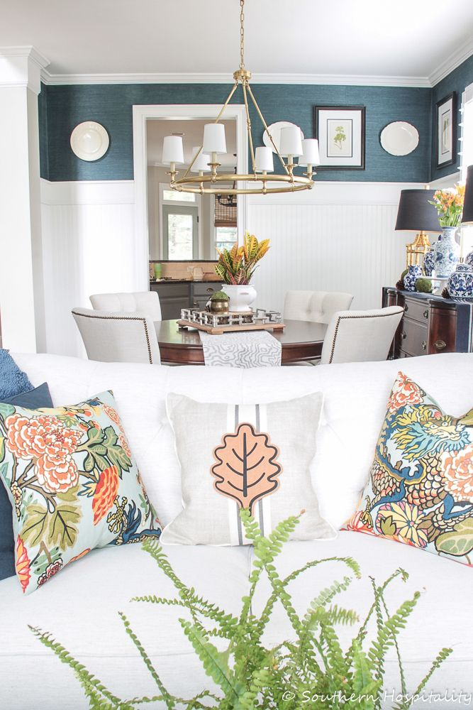 fall 2018 home tour  teal living rooms living room
