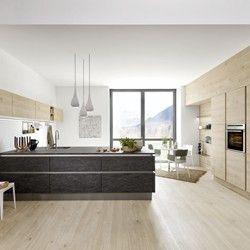 Cuisine Design Effet Ardoise Stone Basalte Et Bois Artwood Chene