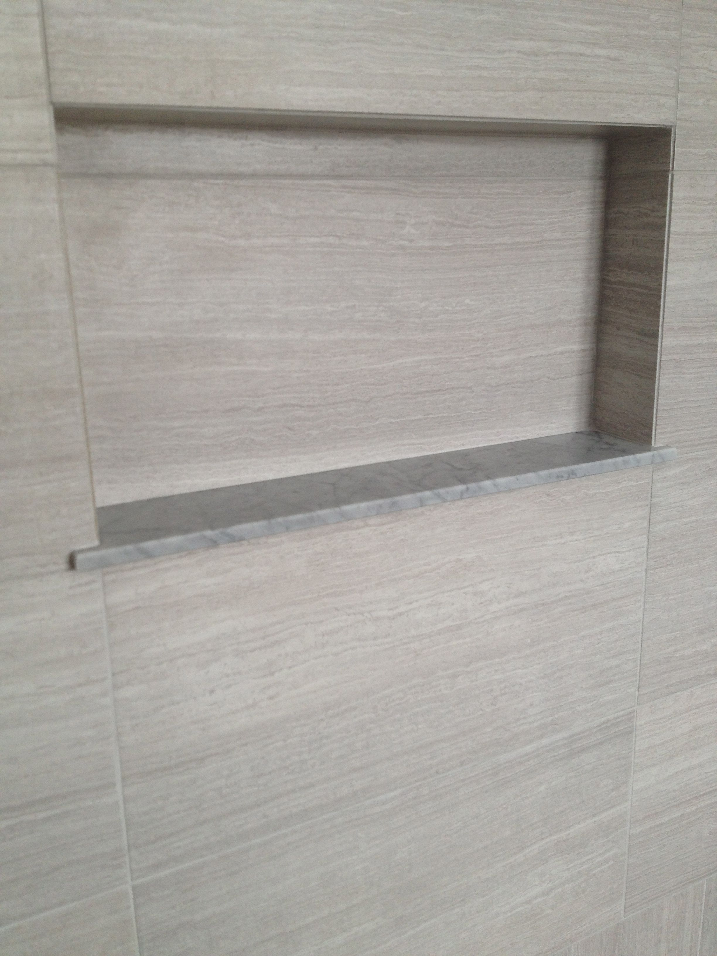 A Shower Niche With A Marble Sill Ideas For The House