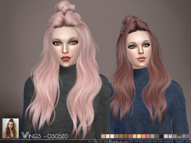 The Sims Resource: WINGS-OS0520 hair | Sims 4 Hairs | Sims 4, Sims