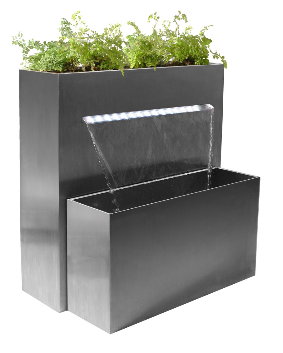 Sutherland Falls Large Rectangular Planter Waterfall Cascade With Led Lights H89cm X W72cm Water Features Rectangular Planters Water Features In The Garden