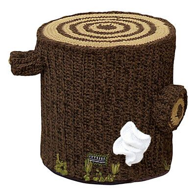 Pouf Bosque  marron 35 x 35 cm