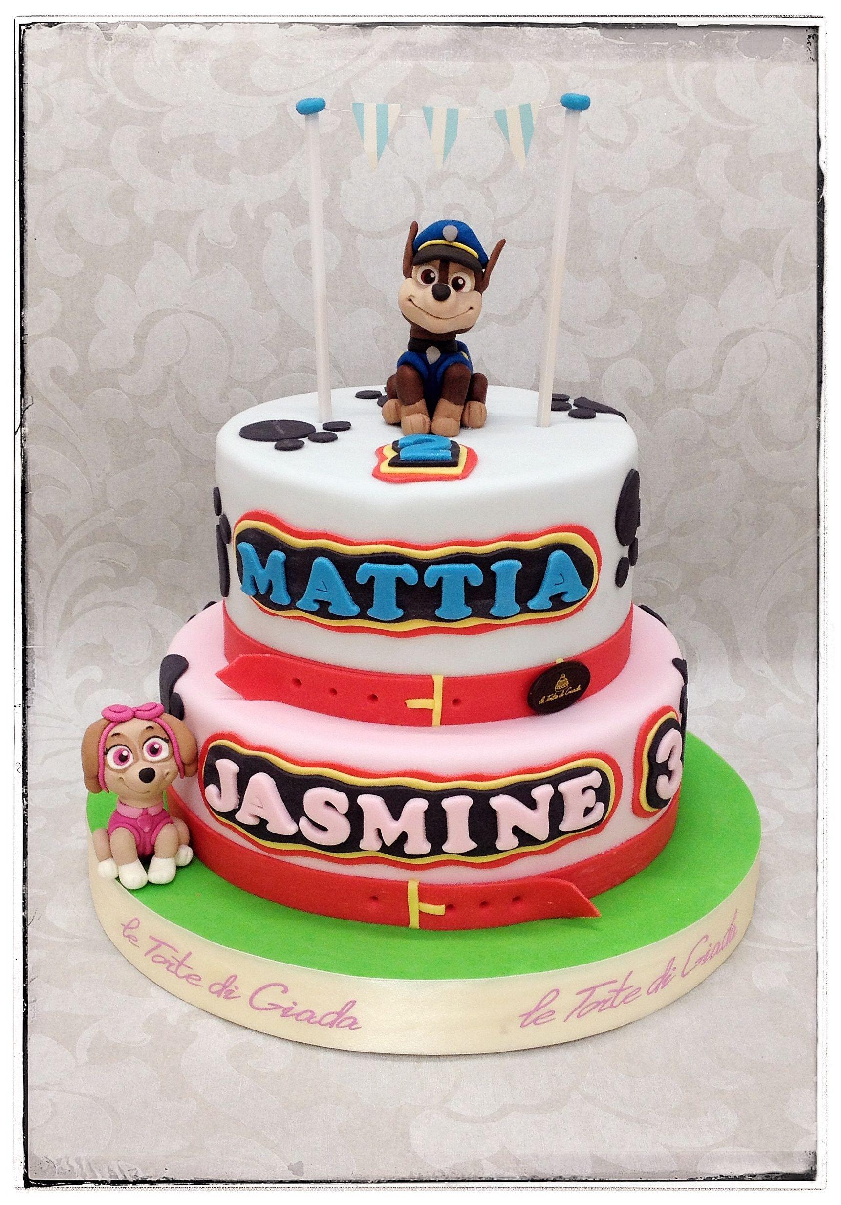 Paw Patrol Cake Parties Boy And Girl Sugar Cake Bolo De Bolas