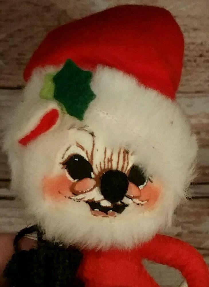 Vintage ANNALEE MOBILITEE Doll Christmas Xmas 1965 Mouse as Santa ...