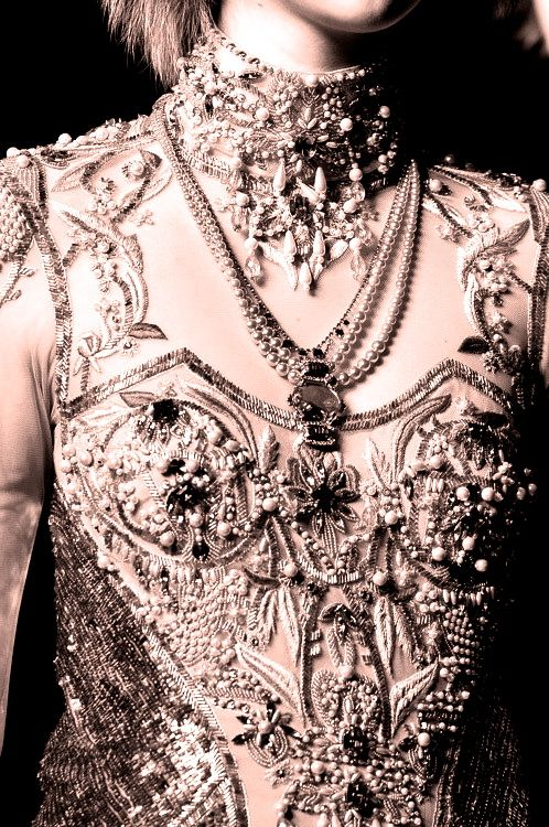 Rose-Style, londonwarrior: lite bejeweled body armour…..
