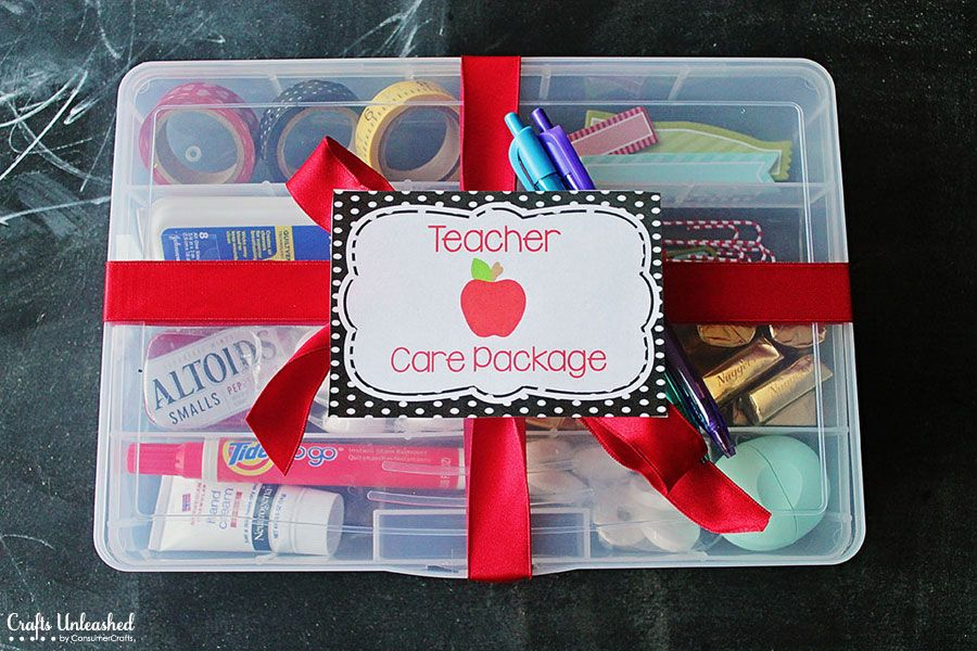 Care Package Ideas Back To School Teacher Gift School Teacher Gifts Teachers Day Gifts School Gifts