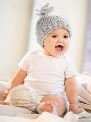 300ddd176 Bulky Baby Hat in Blue Sky Fibers Bulky - Downloadable PDF