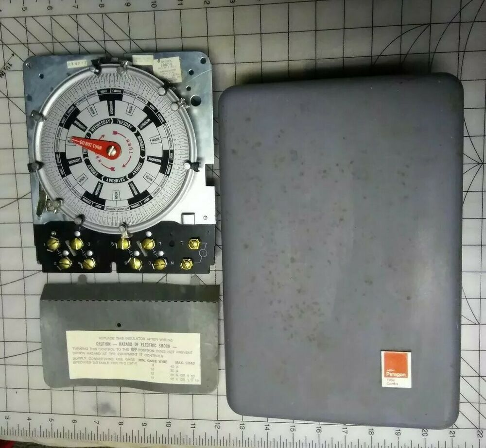 Paragon 70077 00 Day Night Time Controller 4 Line Control A 309 0 120v Electric Paragon Repair Timer Paragon