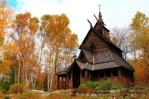 The Stavkirke Church On Washington Island Was Built To Celebrate Door County S Scandinavian Heritage You Washington Island Door County Door County Wisconsin