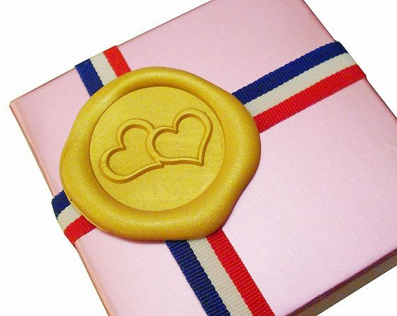 TWO LOVING HEARTS Wax Seal Stamp or Wax Stick by MisterStamp
