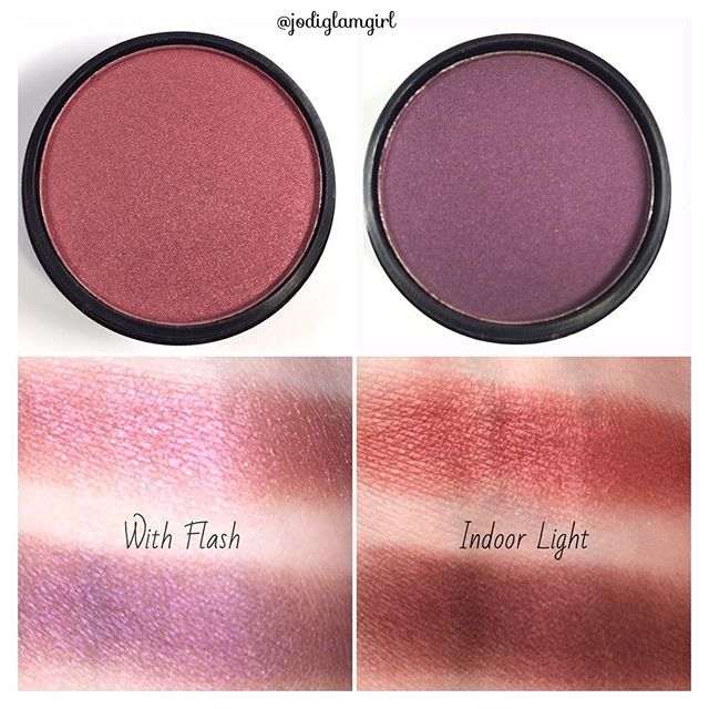 More City Color Cosmetics Single Eye Shadow Swatches for #swatchsunday - Left is Girls Night and Right is Purple Reign. One swipe and no primer. Super pigmented. On sale and use my affiliate code Jodi106 to save an additional 10%. I have yet to find a color that I don't love but the pink one is one of my faves.  Link in bio.  #citycolorcosmetics #cosmetics #bblogger #makeup #discount #eyeshadow #shadows #beauty