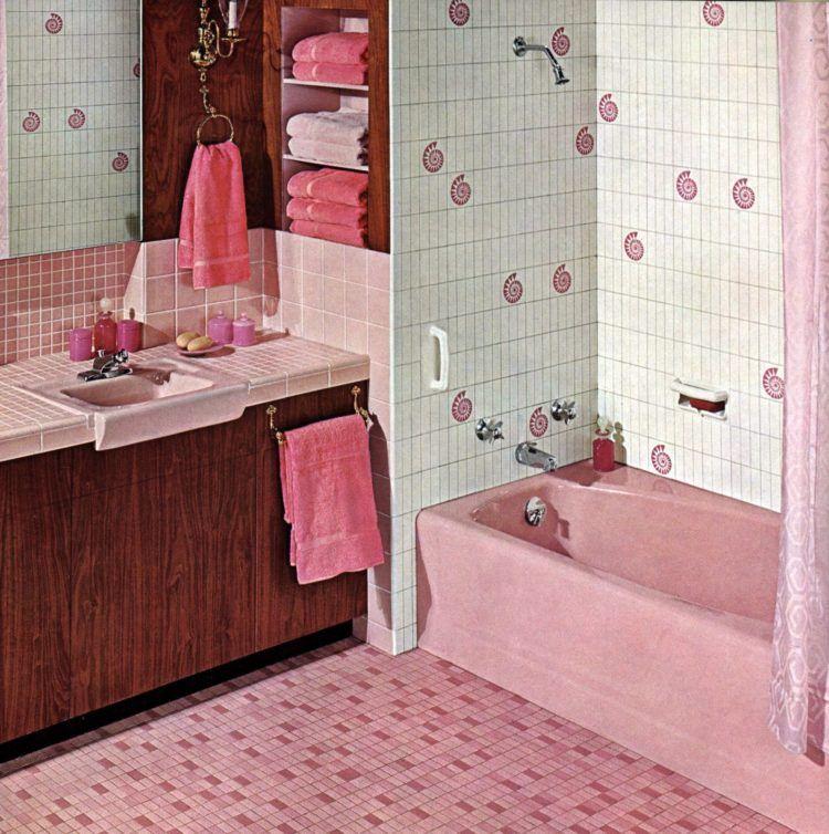 20 Vintage Pink Bathrooms See Some Wild Bubblegum Era Midcentury