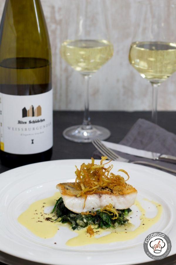 Rezept: Zander, Spinat und Weißwein-Hollandaise mit Cumeo Pfeffer #seafooddishes