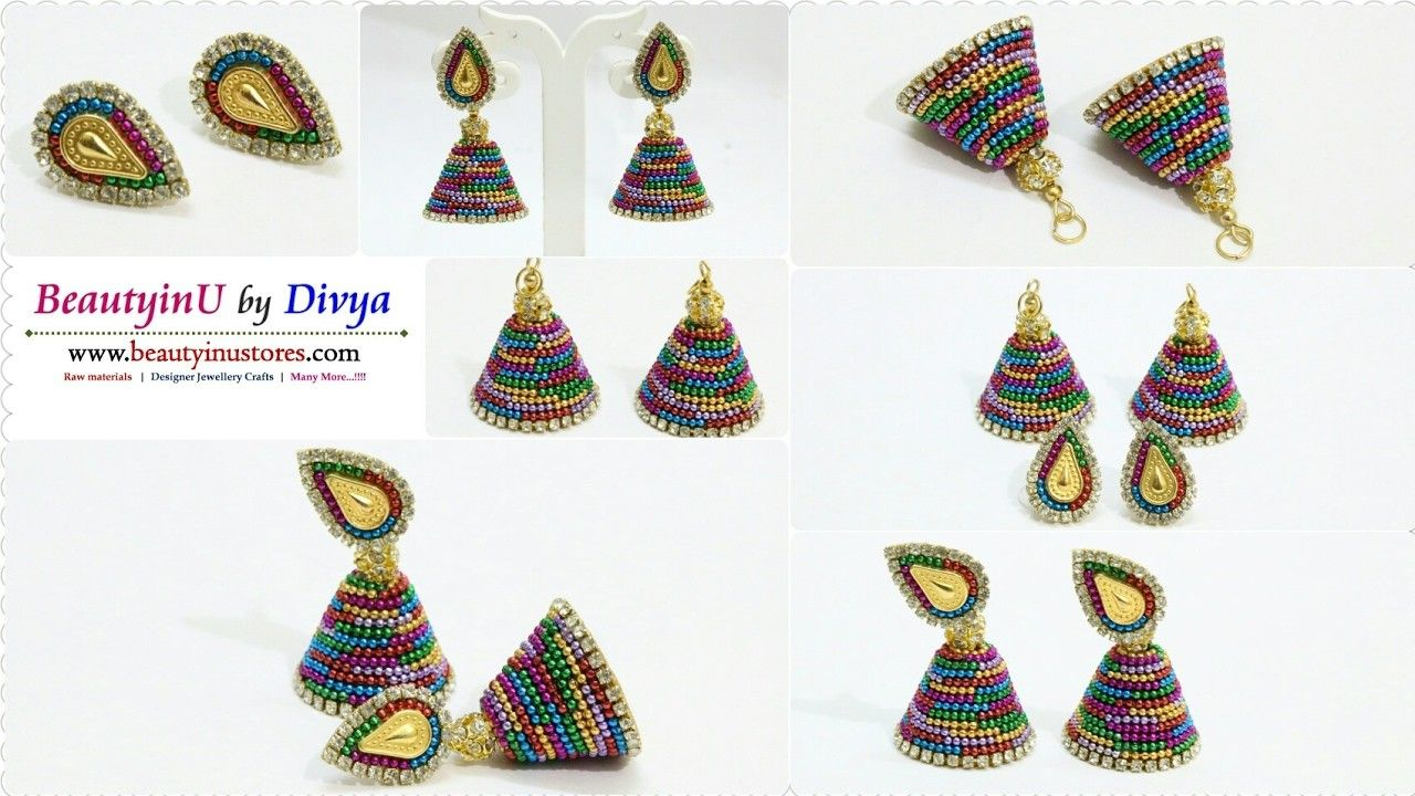 How to make Designer Earrings using Different Color Ball Chains