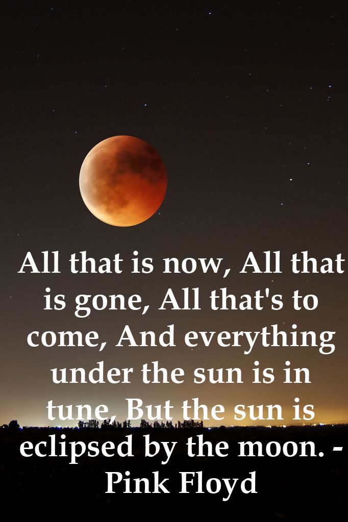 Did you get to see this mornings eclipse? | Pink floyd