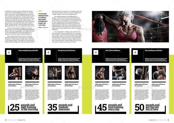 Desain Template Majalah Olahraga Prime Sport Premium Download Majalah Olahraga Olahraga Desain