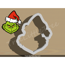 Christmas Grinch Cookie Cutter. Christmas Cookie Cutter
