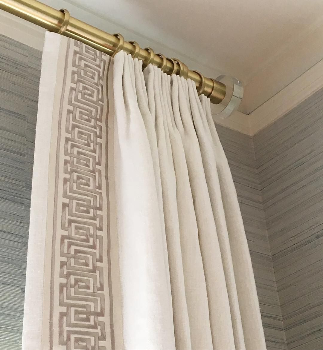 Drapery Panels With Tape Trim At Leading Edge Google Search Custom Curtains Custom Drapes Drapery Treatments