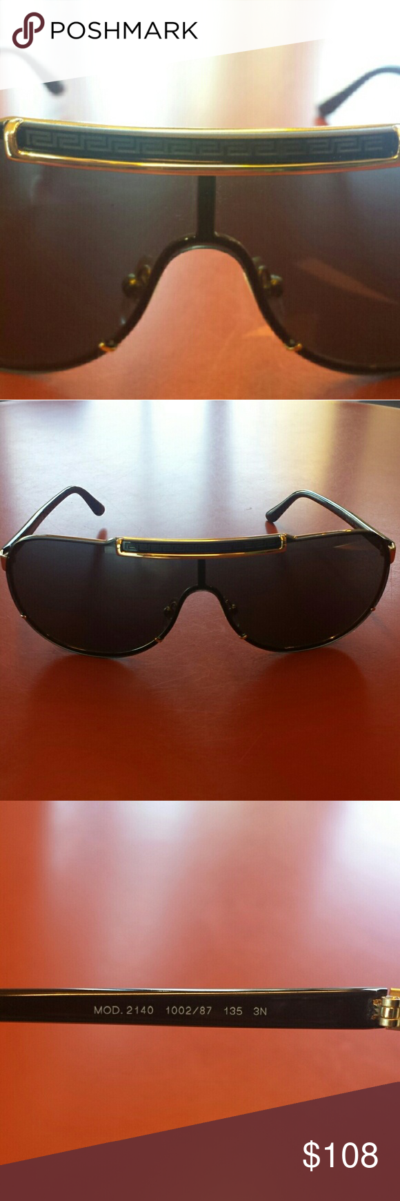 2032e16db70c0 Authentic VERSACE Sunglasses Brand New Never Worn. Lost the original case.  MODEL    MOD.2140 1002 87 135 3N. as pictured above. Excellent Deal! Versace  ...