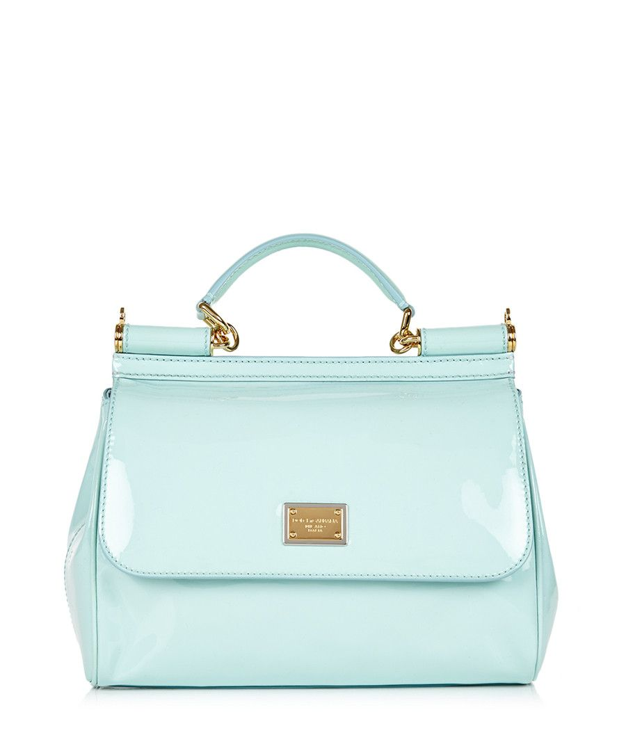 Baby blue patent leather grab bag by Dolce & Gabbana on ...