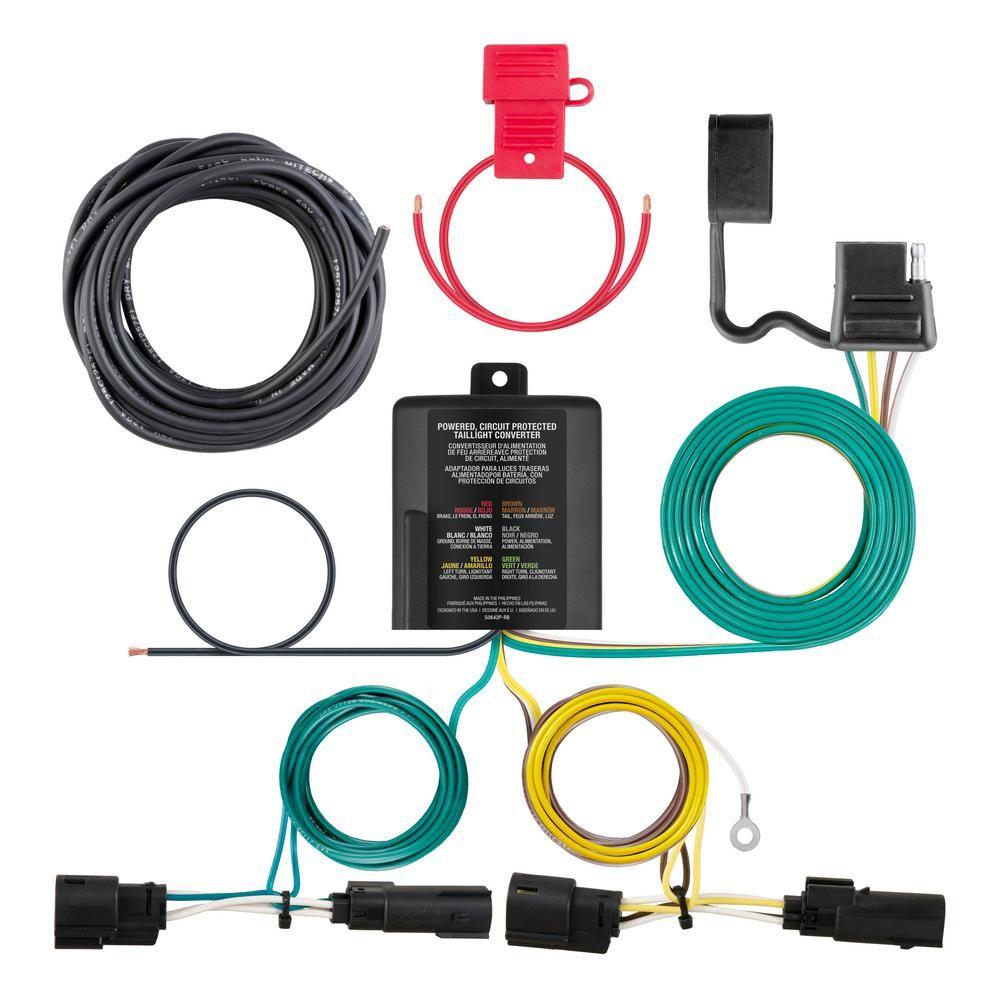 custom wiring harness kits curt custom wiring harness  4 way flat output  56322 tail light  curt custom wiring harness  4 way flat