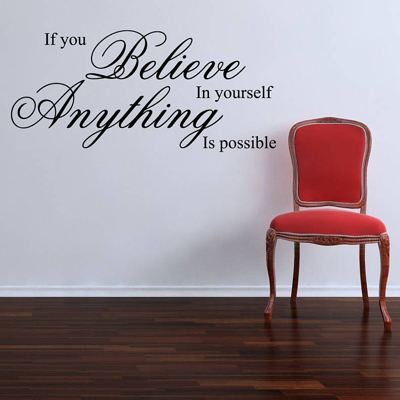 If You Believe Wall Stickers Quotes Part 33