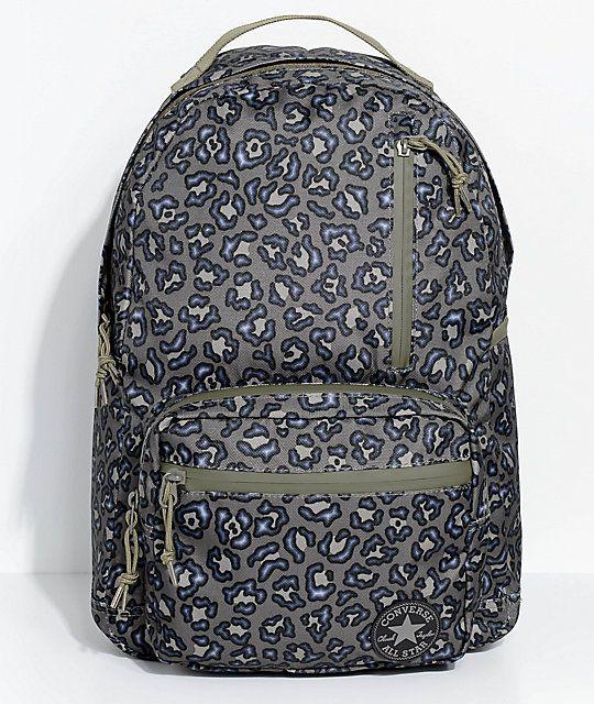 d905b7f83e9bcb Converse Go Pack Olive Leopard Print Backpack