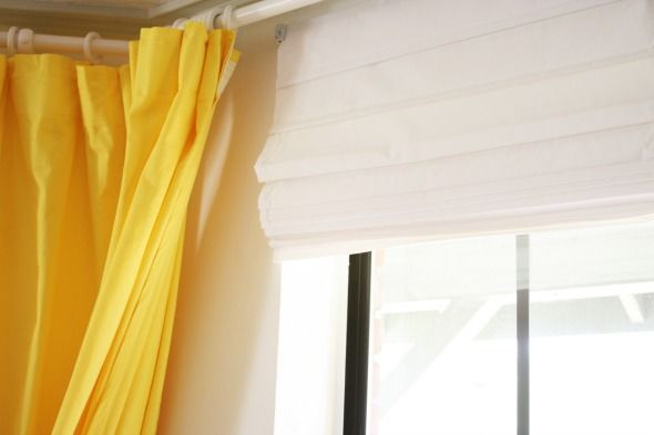 cheap white fabric roman shades from lowe\'s | Delectable Dining ...