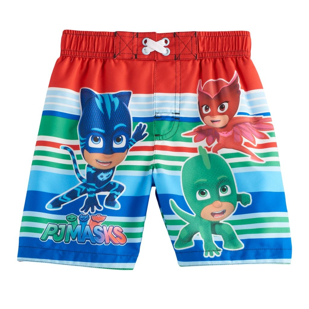 Boys Official PJ Masks Swim Swimming Shorts