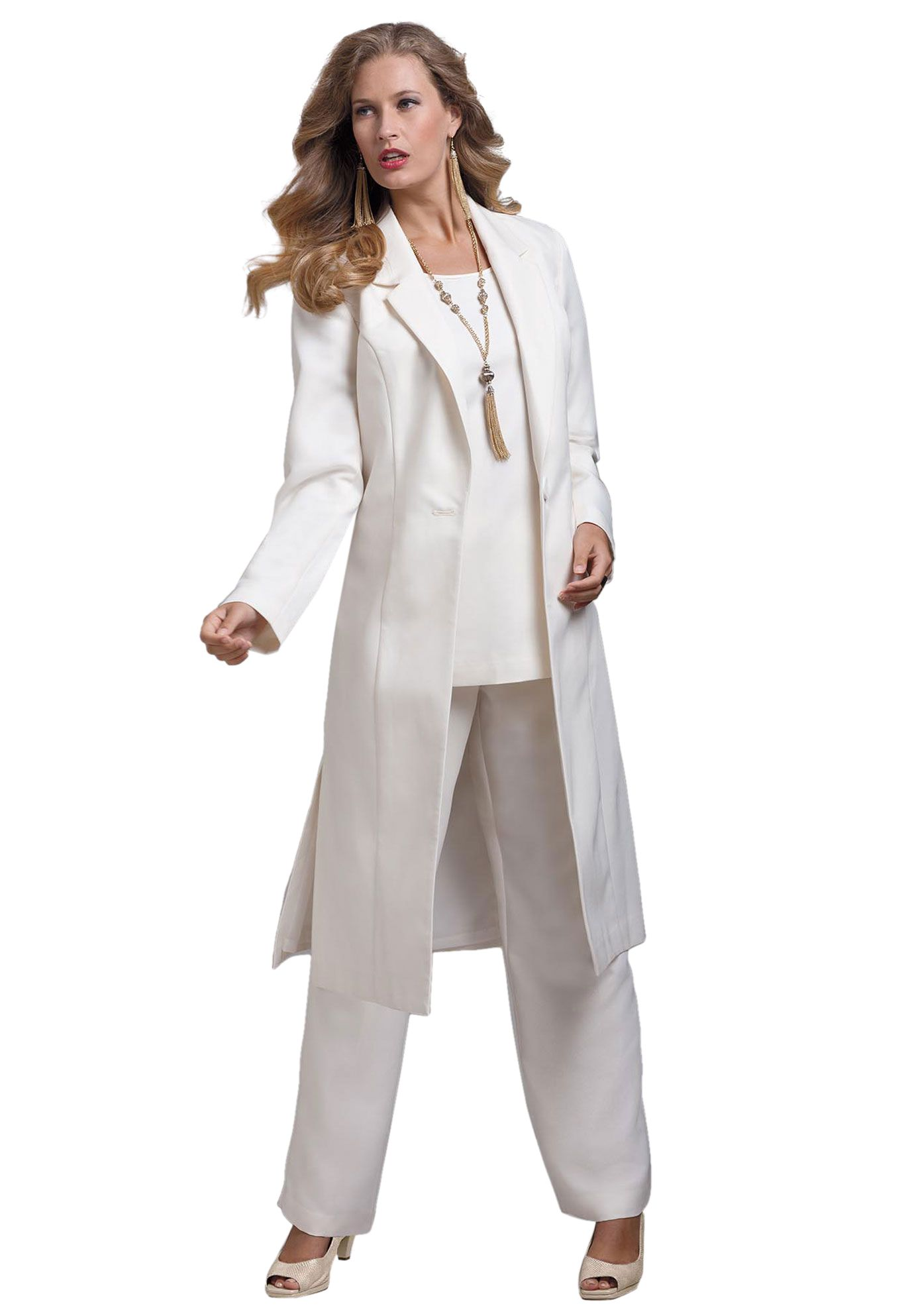 Three Piece Duster Pant Suit My Style Pinterest Dusters