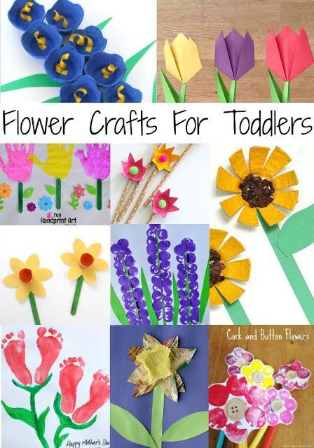 Flowers Flowers Everywhere 30 Art Craft Ideas Crafts Toddler Crafts Flower Crafts