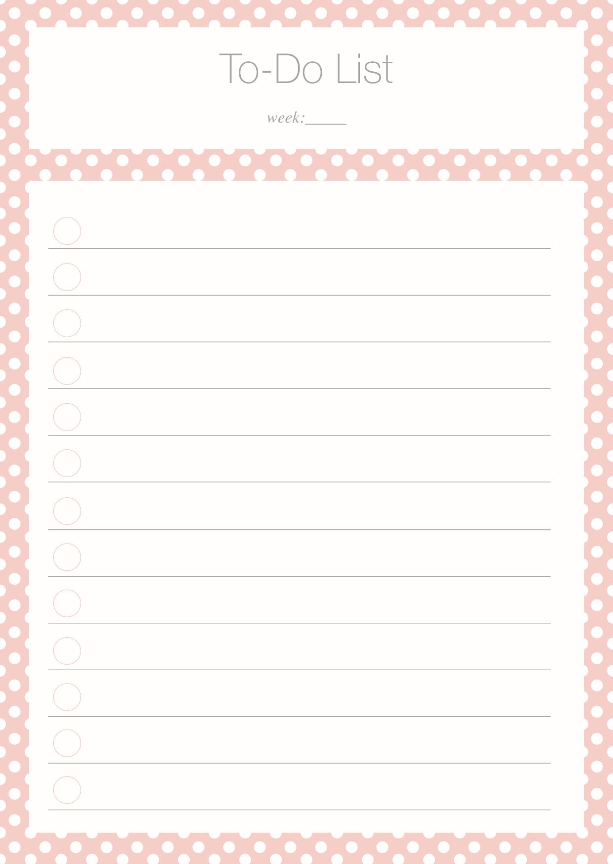To Do List Freebie | Ausdrucken
